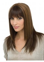 Chic Capless Long Straight Human Hair Wig