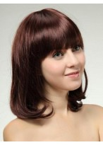Elegant Wavy Medium Human Hair Wig