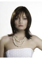 Stylish Layered Style Remy Human Hair Wig
