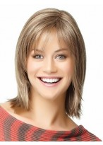 Angled-Cut Shoulder Length Human Hair Wig