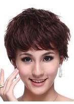 2014 Hottest Human Hair Short Wavy Wig