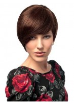 Chic Short Pixie Human Hair Capless Wig