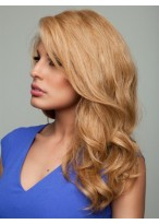 Beautiful Long Wavy Human Hair Lace Front Wig