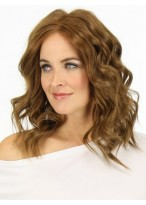 Medium Charming Wavy Human Hair Capless Wig