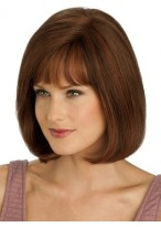 Mid-Length Full Lace With Mono Top Straight Wig