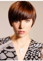 Fashionable Capless Hairstyle Human Hair Wig