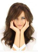 Elegant Capless Brown Human Hair Wig