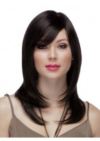 Classic Side-Swept Bangs Full Lace Human Hair Wig
