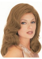 Mid-Length Wavy Front Lace with Mono Human Hair Wig