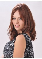 Long Wavy Awesome Human Hair Lace Front Wig