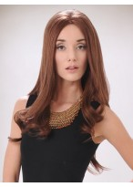 Modern Long Human Hair Lace Front Wig