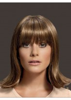 Silky Straight Elegant Human Hair Capless Wig