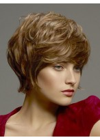 Graceful Wavy Human Hair Lace Front Wig