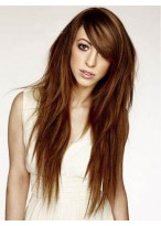 Impressive Human Hair Straight Capless Wig