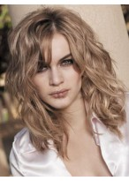 Comfortable Medium Wavy Lace Front Human Hair Wig