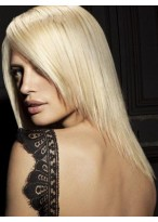Adorable Human Hair Straight Lace Front Wig