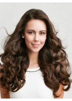 Elaborately Long Wavy Human Hair Full Lace Wig