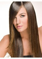 Seductive Human Hair Straight Lace Front Wig