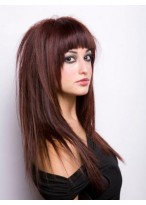 Comfortable Long Straight Capless Remy Human Hair Wig