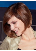 Elegant Human Hair Straight Lace Front Wig