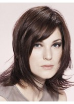 Romantic Human Hair Straight Lace Front Wig