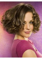 Pretty Short Lace Front Wavy Human Hair Wig