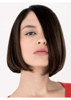 Durable Human Hair Straight Lace Front Wig