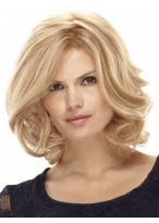 Shoulder Length Front Lace with Mono Human Hair Wig