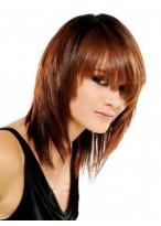 Charming Medium Straight Capless Human Hair Wig