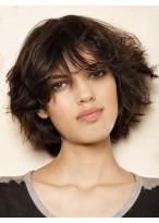 Medium Length Wonderful Capless Human Hair Wig