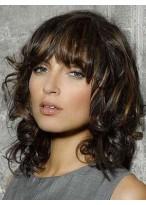 Brilliant Wavy Remy Human Hair Capless Wig