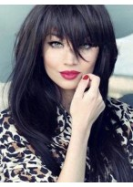 Flattering Straight Remy Human Hair Capless Wig