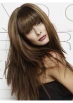 Chic Human Hair Straight Capless Wig