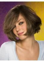 Glamorous Capless Medium Length Straight Human Hair Wig
