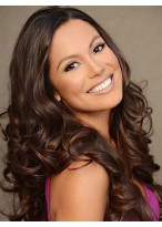 Smooth Human Hair Wavy Lace Front Wig