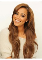 Gorgeous Lace Front Long Wavy Human Hair Wig