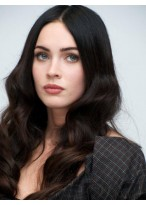 Attractive Lace Front Long Wavy Human Hair Wig