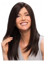 Shoulder Cut With Long Layers Straight Human Hair Wig