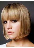 Modern Straight Human Hair Capless Wig