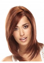 Shoulder-Length 100% Human Hair Lace Front Wig