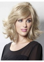Modern Wavy Human Hair Capless Wig