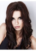 Flattering Remy Human Hair Wavy Lace Front Wig