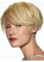 Pleasant Straight Capless Human Hair Wig