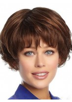Nice-looking Wavy Capless Human Hair Wig