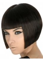 Durable Human Hair Straight Capless Wig