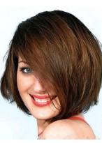 Charming Medium Length Human Hair Capless Wig