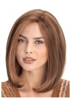 Medium Lace Front Human Hair Straight Wig