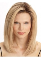 Medium Lace Front Straight Remy Hair Wig
