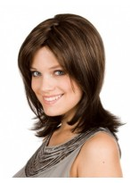 Dazzling Human Hair Straight Capless Wig