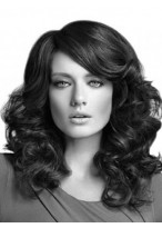 New Style Long Synthetic Spiral Wavy Lace Wig